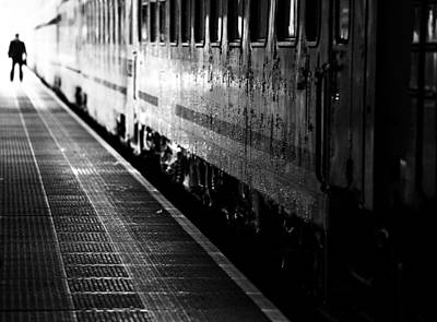 Train Station Photograph - Untitled by Anna Niemiec