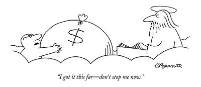 Death Drawing - I Got It This Far - Don't Stop Me Now by Charles Barsotti