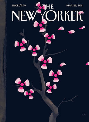 Japan Painting - New Yorker March 28th, 2011 by Christoph Niemann