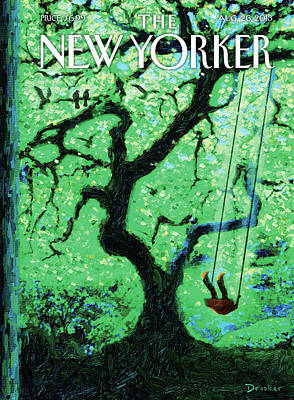 Swing Painting - New Yorker August 26th, 2013 by Eric Drooker