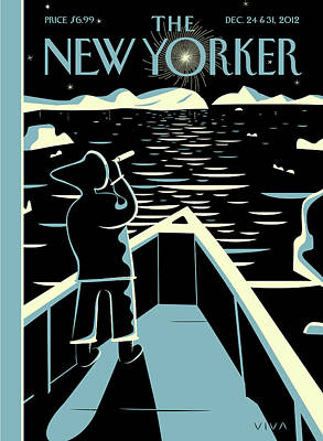 Boat Painting - New Yorker December 24th, 2012 by Frank Viva