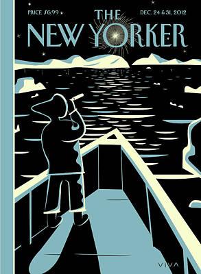 New Yorker December 24th, 2012 Art Print by Frank Viva