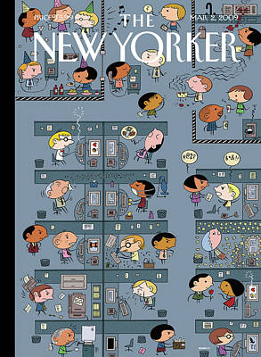 2009 Painting - New Yorker March 2nd, 2009 by Ivan Brunetti