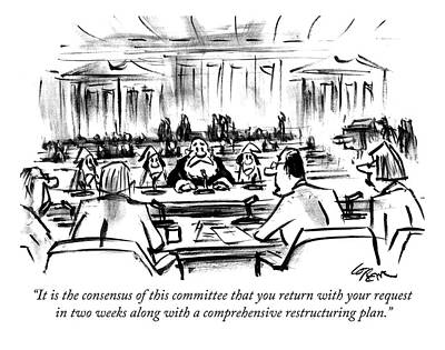 Washington D.c Drawing - It Is The Consensus Of This Committee That by Lee Lorenz