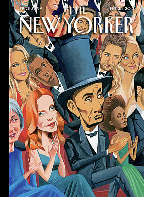 President Painting - New Yorker February 25th, 2013 by Mark Ulriksen