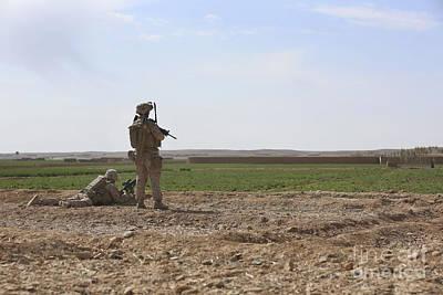Beers On Tap - U.s. Marines Provide Security by Stocktrek Images