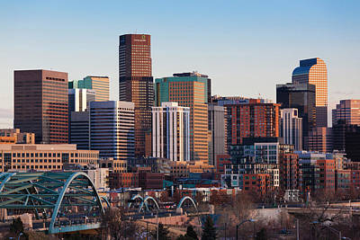 Denver Skyline Photograph - Usa, Colorado, Denver, City View by Walter Bibikow