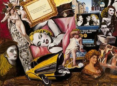 Marilyn Monroe And James Dean Painting -  Marilyn Monroe Johnny Depp And James Dean by Jonell Restivo