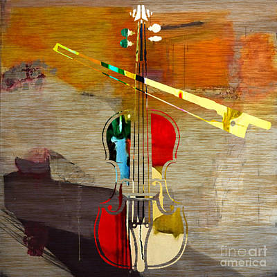 Violins Mixed Media - Violin by Marvin Blaine
