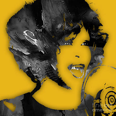 Whitney Houston Collection Art Print by Marvin Blaine