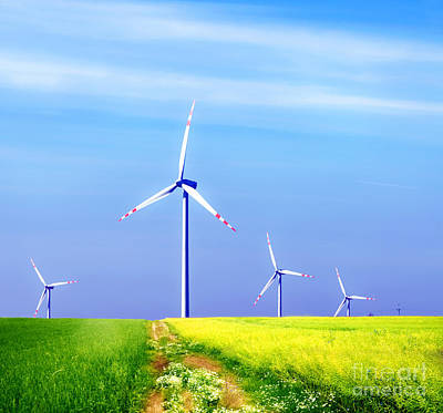 Turbine Photograph - Wind Turbines by Michal Bednarek