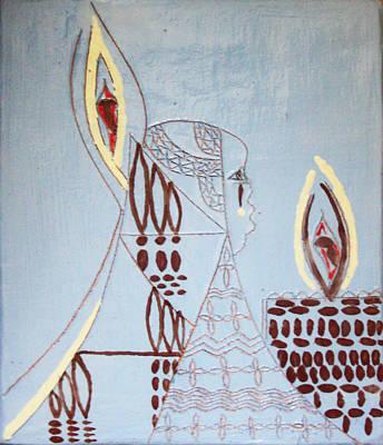 Final Hour Painting - Wise Virgin by Gloria Ssali