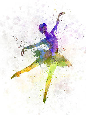 Woman Ballerina Ballet Dancer Dancing  Art Print by Pablo Romero