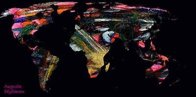 Digital Art - World Map And Human Life by Augusta Stylianou