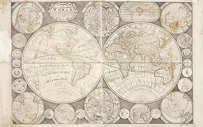 World Map Print by British Library