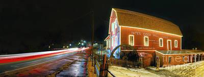Yates Cider Mill At Christmas Art Print