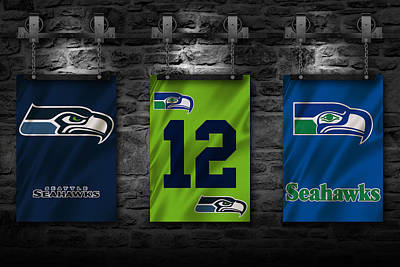 Seattle Seahawks Print by Joe Hamilton