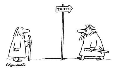 Drawing - Truth by Charles Barsotti
