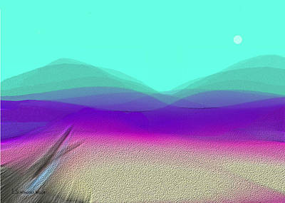 Inuu Digital Art - 604 -  A Desert  Morning by Irmgard Schoendorf Welch