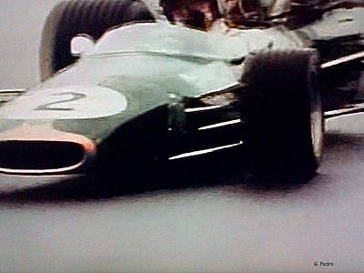 1920s Flapper Girl - 60s Era Formula 1 Race by George Pedro