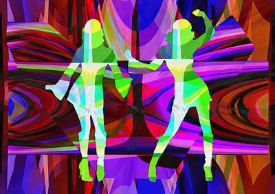 Twiggy Digital Art - 60's Pop Culture Revolution by Emily Colosimo