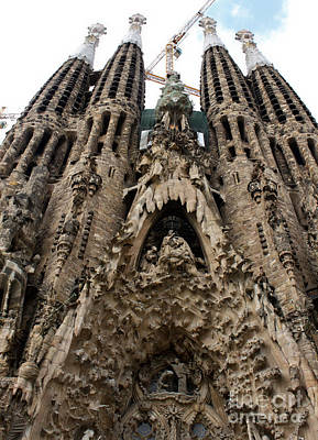 Photograph - Barcelona Spain - La Sagrada Familia by Gregory Dyer