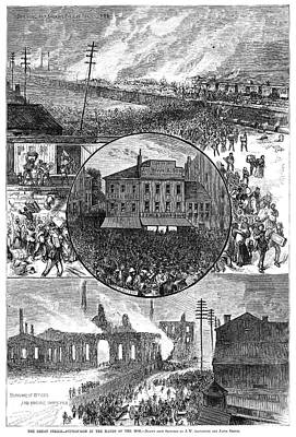 Great Railroad Strike, 1877 Art Print by Granger
