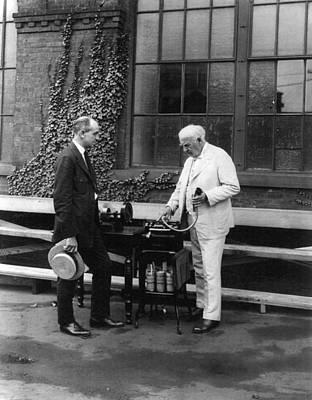 Dictaphones Photograph - Thomas Edison (1847-1931) by Granger