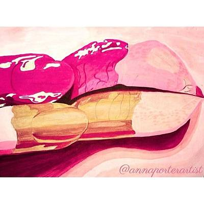 Pink Painting - Sensuality by Anna Porter