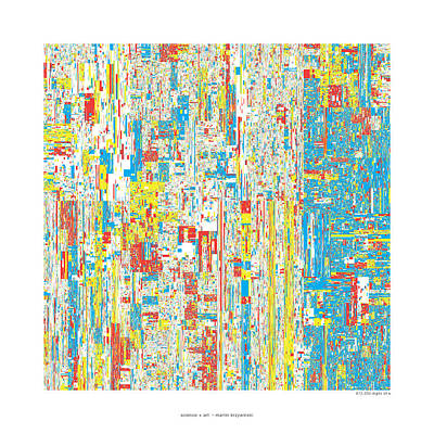 612330 Digits Of Pi Art Print by Martin Krzywinski