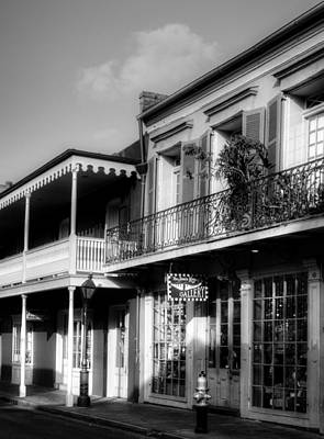 617 Chartres Street In Black And White Art Print by Chrystal Mimbs
