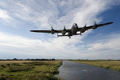 Digital Art - 617 Squadron Lancaster Training Sortie by Gary Eason