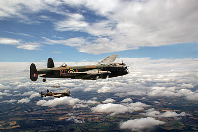 Photograph - 617 Squadron Tallboy Lancasters by Gary Eason