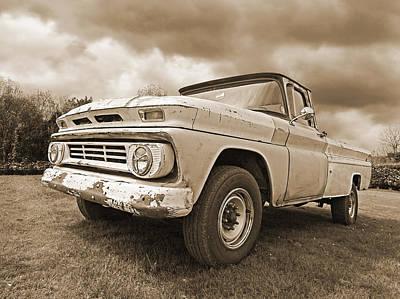 '62 Chevy Fleetside In Sepia Art Print