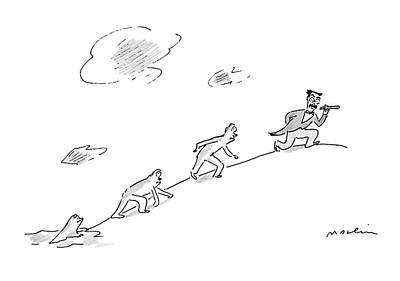 Groucho Marx Drawing - New Yorker February 25th, 2008 by Michael Maslin