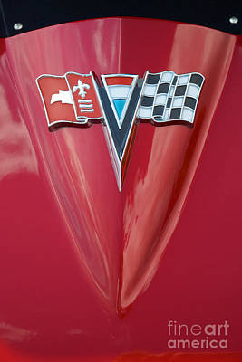 Photograph - 63 Corvette Emblem by Mark Dodd