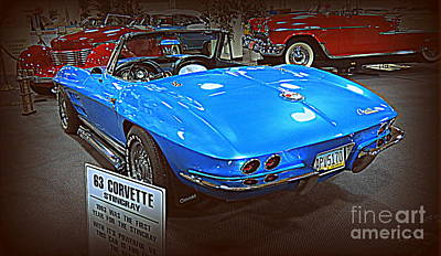 Photograph - 63 Corvette Sting Ray 2 by Kay Novy