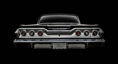 Black Digital Art - '63 Impala by Douglas Pittman