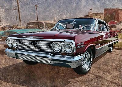 '63 Impala Art Print by Victor Montgomery