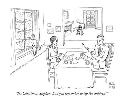 Winter Drawing - It's Christmas by Paul Noth