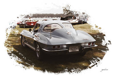 Photograph - 63 Vette by Gary Gunderson