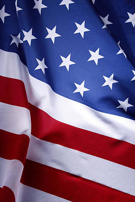 Landmarks Royalty Free Images - American flag 50 Royalty-Free Image by Les Cunliffe
