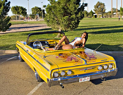 Photograph - 64 Impala Lowrider_ 19 by Walter Herrit