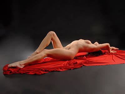 Photograph - 6401 Nude Woman With Surrender Tattoo by Chris Maher