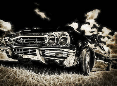 65 Chev Impala Art Print by motography aka Phil Clark