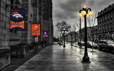 Street Photograph - Denver Broncos by Joe Hamilton