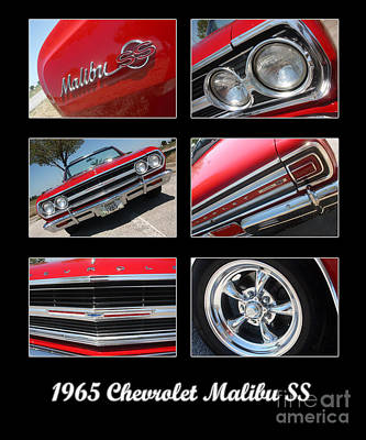 65 Malibu Ss Poster Art Print by Gary Gingrich Galleries