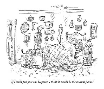 Deathbed Drawing - If I Could Pick Just One Keepsake by Barbara Smaller