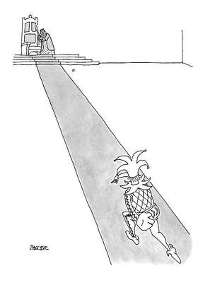 The King Drawing - Captionless by Jack Ziegler