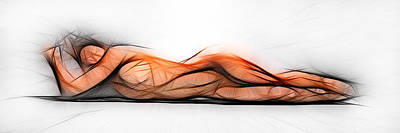 Photograph - 6565 Abstract Fractal Nude Art 1 To 3 Ratio Signed Chris Maher by Chris Maher